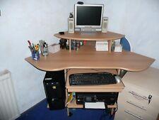 Eck Computertisch PC-Tisch Eckschreibtisch Bürotisch Winkelschreibtisch PC Ecke