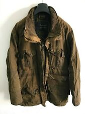 Mens Barbour Duracotton Dryfly wax jacket Dark Brown coat Large / Extra Large XL