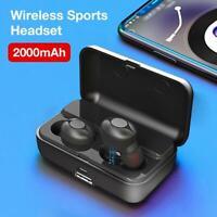 Bluetooth 5.0 Headset TWS Wireless Earphones Mini Earbuds Stereo Sport Headphone