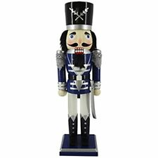 Traditional Soldier Nutcracker Blue Jacket and Sword 15 inch