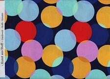 """Patchworkstoff - M.Miller """"Little Big Dot""""- blau mit bunten Punkten - mehrfarbig"""