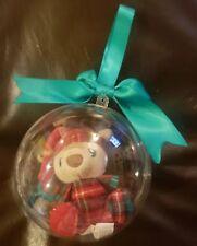 Time For Joy Pawliday Globe Ornament W/Dog Toy Inside