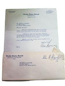 1957 JFK Signed Typed Letter as Senator w/Envelope plus John McCormack Letter
