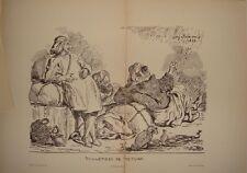 GAZETTE DE BEAUX ARTS 1914 LITHO ORIGINALE DE DELACROIX
