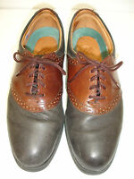 I.E. with NIKE AIR Mens Black Brown Two-Tone Leather Wing Tip Oxford Shoe 8.5M