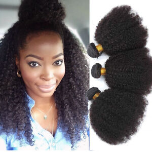 Mongolian Afro Kinky Curly Human Hair Weave 100% Virgin Hair Brazilian Hair Weft