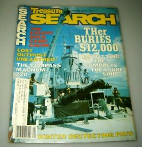 Treasure Search Magazine February 1981 Metal Detector Civil War Gold Silver Coin