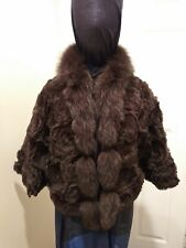 Fur Bolero Shrug Cover Jacket Brown  S/M - Giorgio Italia