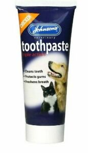johnsons triple action toothpaste 50g chicken flavour for dogs and cats