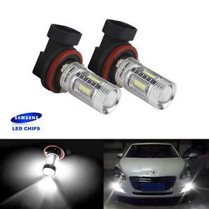 2x 15W H8 H9 H11  Chip LED lumière de brume Feux Xenon Blanc Ampoule DRL