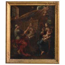 Atelier d'artiste huile sur toile d'époque XVIIIème