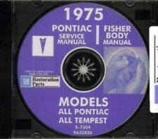 PONTIAC 1975 Bonneville, Catalina, GTO, Tempest, Fire Bird Shop & Body Manual CD