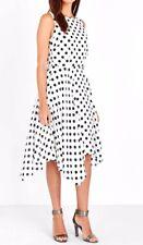 Ivory Polka Dot Print Hanky Hem Dress 12