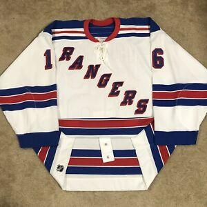 Signed CCM Authentic Bobby Holik New York Rangers NHL Hockey Jersey NY White 58