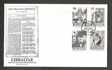 GIBRALTAR 2001 GIBRALTAR CHRONICLE FDC SG.978-981 LOT 5158A