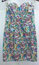 asos Womens Dress 8 Mini Pencil Casual Floral Knee Bow New Zipper Multi Sundress