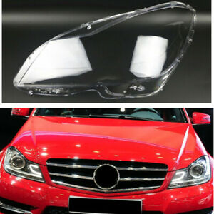 Left Side Headlamp Clear Auto Shell For Mercedes-Benz C-Class W204 C180 2011-13