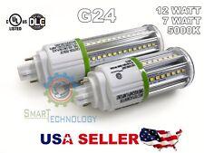 LED CORN BULB 7W 12W 360° G24 BASE Super Bright 5000K  UL,CUL,DLC Listed