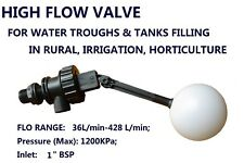 LEVEL FLOAT FLOW VALVE DRINKING TROUGH WATER TANK IRRIGATION MAXIMUM FLOW