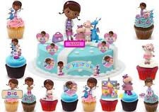 Doc Mcstuffin Fairy Cup Cake Scene Topper Birthday Wafer  Edible STAND UP CUSTOM