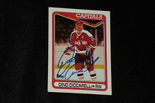 HOF DINO CICCARELLI 1990-91 TOPPS SIGNED AUTOGRAPHED CARD #100 CAPITALS