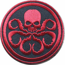 Captain America HYDRA/Red Skull RED Embroidery Iron On / Sew on Patch/ Badge