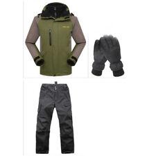 Mens Ski Jacket Pants D29 Green Snowboard Winter Waterproof Gloves S M L XL XXL