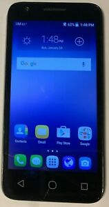 READ FIRST ALCATEL Ideal 4060a 8GB (ATT) Black Cell Phone Cracked Used Works