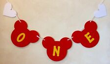 BOYS 1st BIRTHDAY MICKEY MOUSE STYLE PARTY BANNER RED
