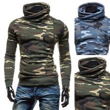 Mens slim Hoodie Pullover camo Sweatshirt Sweater Long Sleeve Hooded Jumper Coat