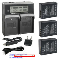 Kastar Battery LCD Dual Fast Charger for Original BLH1 Olympus OM-D E-M1 Mark II