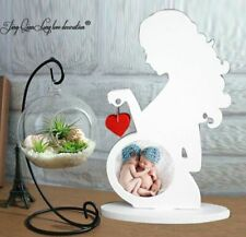 Baby Picture Frame Ultrasound Sonogram Frame Gift Pregnant Woman Silhouette