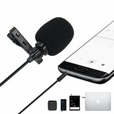 Smartphone Microphone Clip-on Mic Live Chat Podcasting Voice Recording Interview
