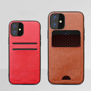 For iPhone 11 12 13 Pro Max Leather Case Card Anti-drop Phone Case Cover