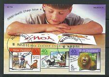 NUOVA ZELANDA 1999 HEALTH PER BAMBINI LIBRI MINIFOGLIO PREGIATO USATO