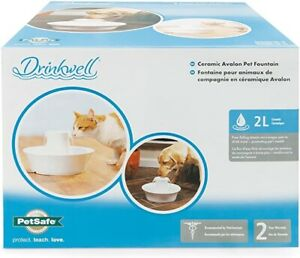 BNIB PetSafe Drinkwell Ceramic Avalon Pet Fountain, 2 Litre, sealed box