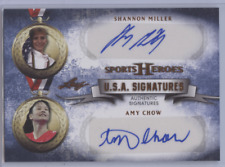 SHANNON MILLER AMY CHOW 2013 LEAF SPORT HEROES U.S.A SIGNATURES AUTO