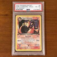 Pokemon Dark Charizard 1st Edition Holo - 2000 Team Rocket #4 4/82 - PSA 4 VG-EX