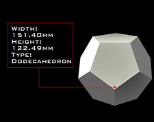 DODECAHEDRON 151mm X 122mm Orgonite Casting Mold, Golden Ratio Geometry, HDPE