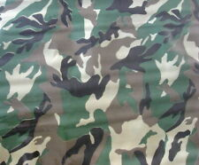 CAMOUFLAGE GREEN FOREST WOOD MILITARY CAMP HUNT OILCLOTH VINYL TABLECLOTH 48x84
