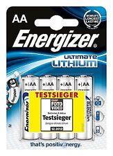 4 X Energizer AA Max Plus Lithium Batteries 1.5v Exp 12/ 2030 12 Year Shelf Life