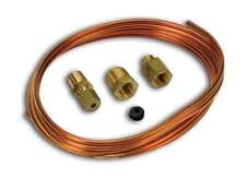 """Auto Meter 3224 Tubing Copper 1/8"""" 6ft Length 1/8"""" Brass Compression Fittings"""