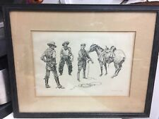 1899 Charles Marion Russell Initiation Of The Tenderfoot - W. Ridley Original