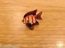 Dolls house retro vintage GLASS FISH ornament 1:12th scale picture UK SELLER