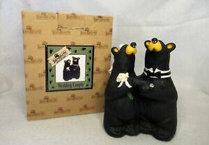 """Bearfoots Bears """"Wedding Couple"""" Figurine  Cake Topper Big Sky Carvers w/ Box"""