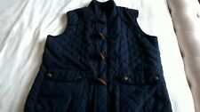 Cotton Traders Unisex Highneck Navy Quilted Gilet Bodywarmer Size L Zip& Toggles