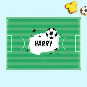 Personalised High Quality Kids Placemat - Football Crazy - Children's Laminated