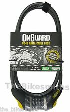 OnGuard Akita 8042 Cable Bike Resettable Combo Lock  6' x 10mm fits Kryptonite