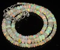 """50 Ctw 1Necklace 2to5.5mm17""""Beads Natural Genuine Ethiopian Welo Fire Opal RR580"""