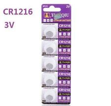 25pc TIANQIU CR1216 DL1216 ECR1216 KCR1216 3V Lithium Button Cell Watch Battery